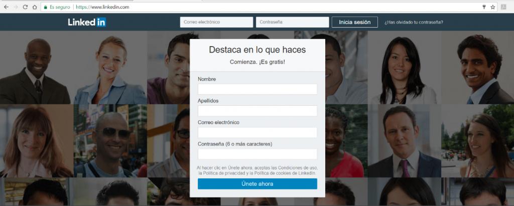 Que es una cuenta de Linkedin y como Registrarse 1